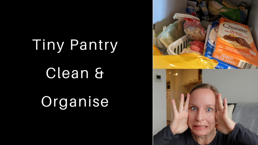 small pantry declutter